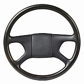 Close up of a steering wheel