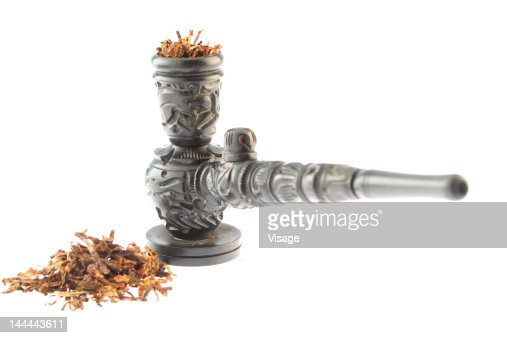 Close up of a tobacco pipe : Stock Photo