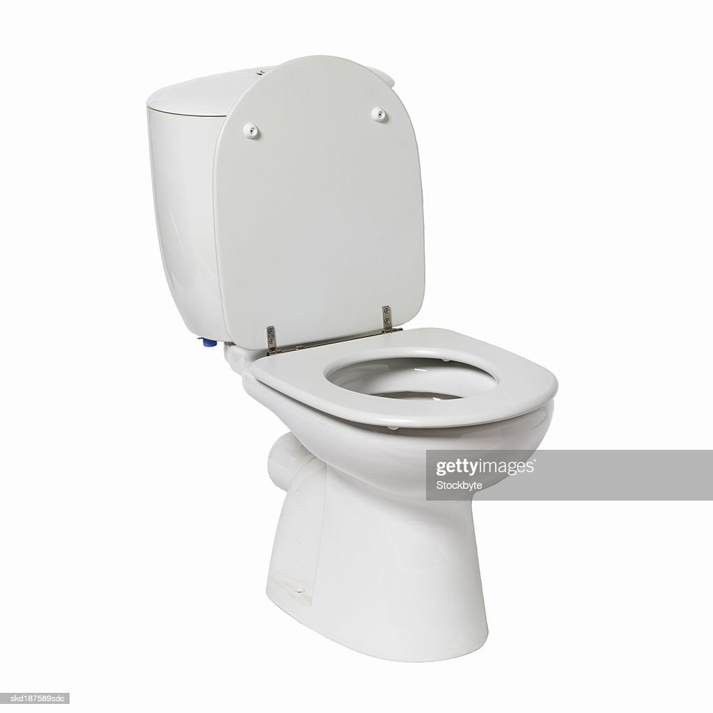 Close up of a toilet