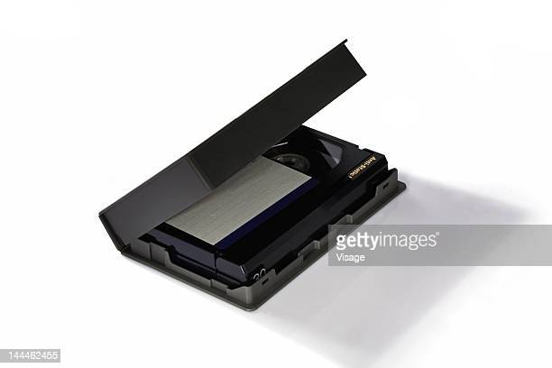 Close up of a video cassette