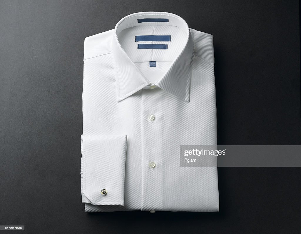 Close up of a white mens shirts