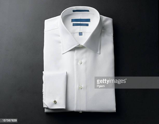 Close up of a white mens shirts