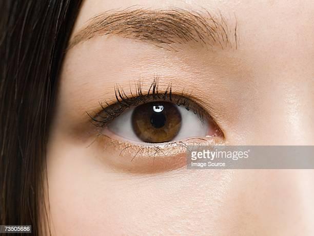Primo piano di una donna di occhio