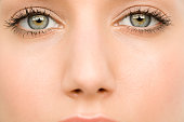 Close up of a young womans eyes