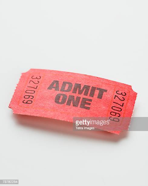 Close up of Admit One ticket