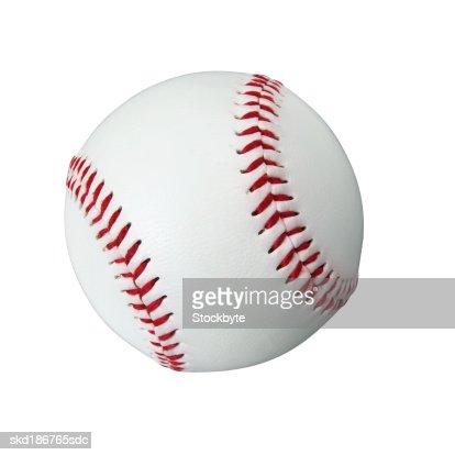 Close up of an American baseball ball : Stock Photo