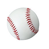 Close up of an American baseball ball