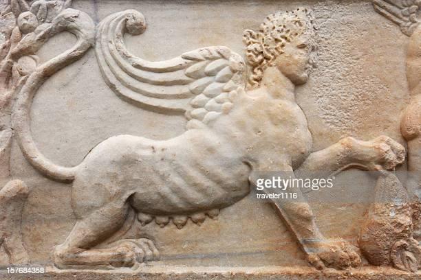 Close Up Of An Ancient Sarcophagus