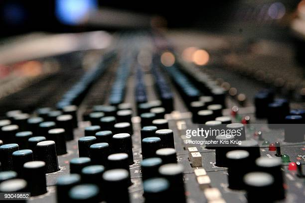 A Close up of an Audio Soundboard