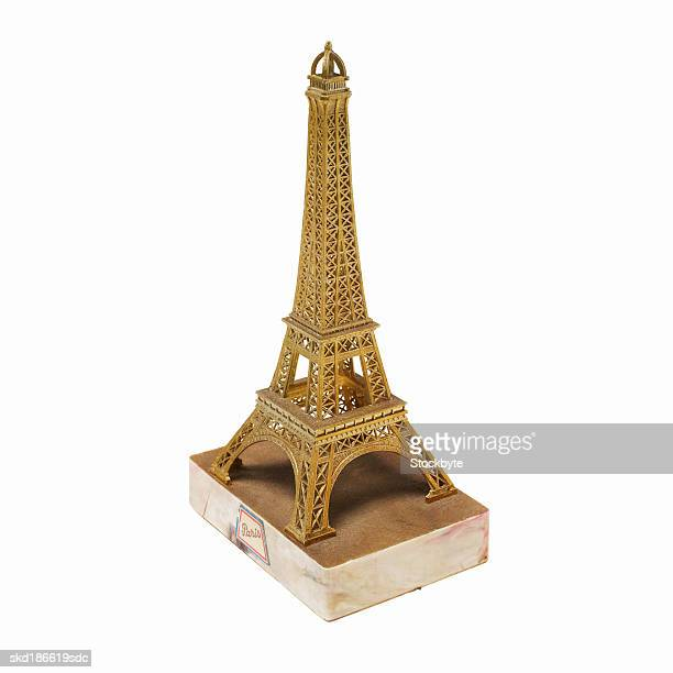 Close up of an Eiffel tower model