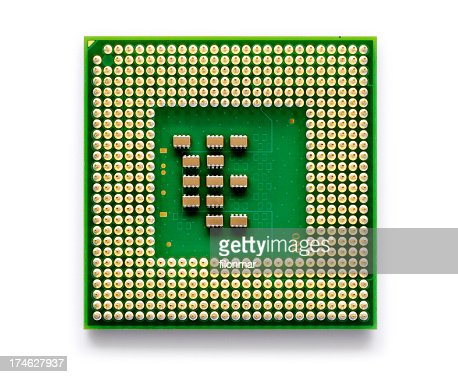 A close up of an electronic chip used for technology
