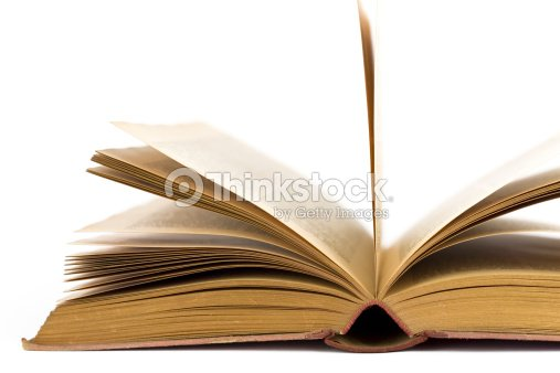 close up of an openend vintage book : Stock Photo