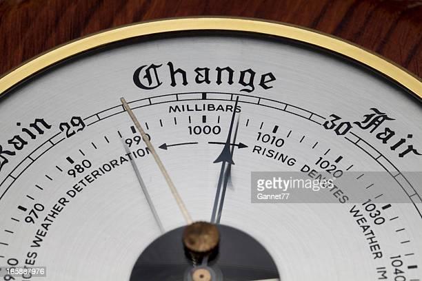 Nahaufnahme des Aneroid Barometer
