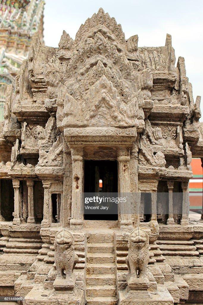 Close up of Angkor Wat at Wat Phra Kaew Bangkok Thailand : Photo