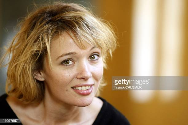 Close up of Anne Marivin during the premiere of the film 'Bienvenue chez les ch tis ' in Lille France on February 19th 2008