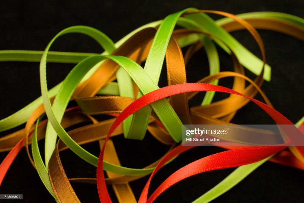 Close up of assorted ribbons : Foto de stock