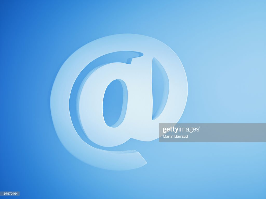 Close up of at symbol : Stock Photo