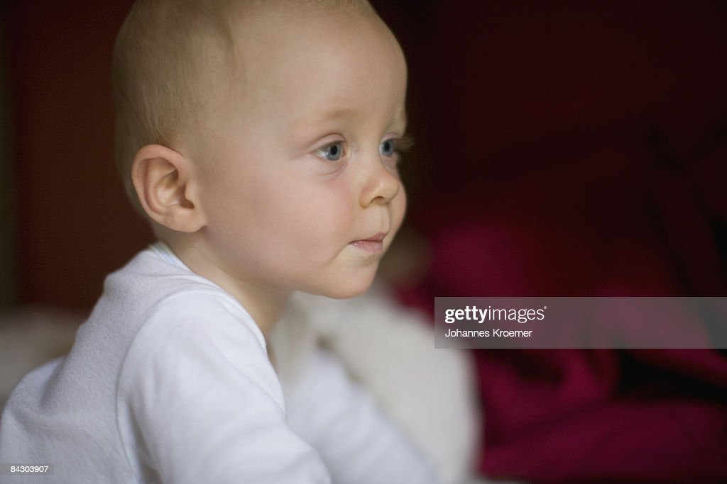 Close up of baby boy : Stock Photo