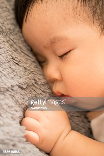 Close up of baby sleeping.
