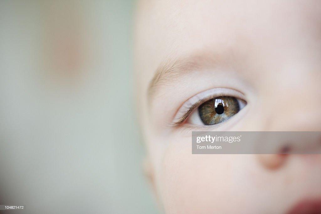 Close up of babys eye : Stock Photo