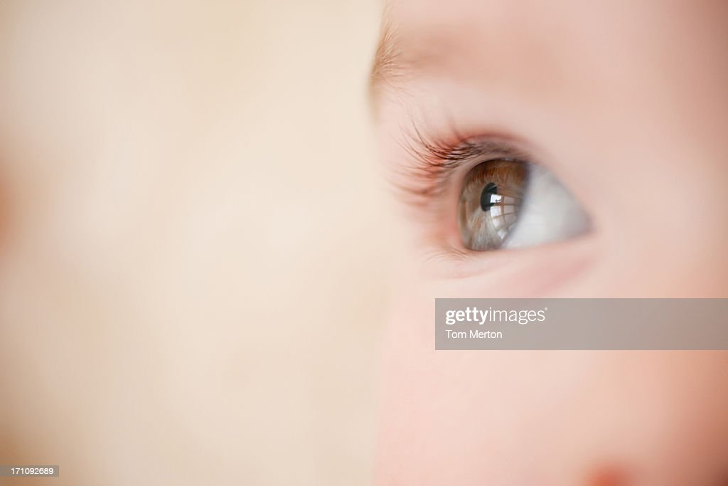 Close up of baby's eye : Stock Photo