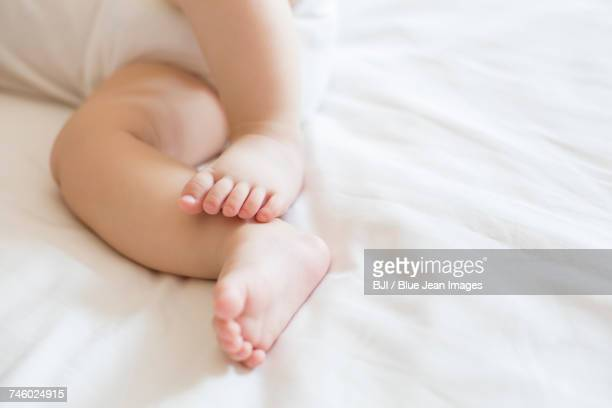 Close up of babys feet