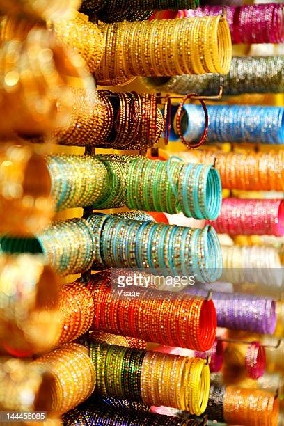 Close up of bangles