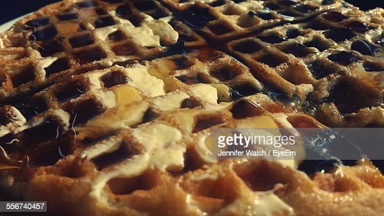 Close Up Of Belgian Waffle