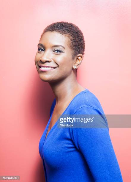 Close up of Black woman smiling