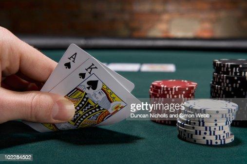 Close up of blackjack in casino