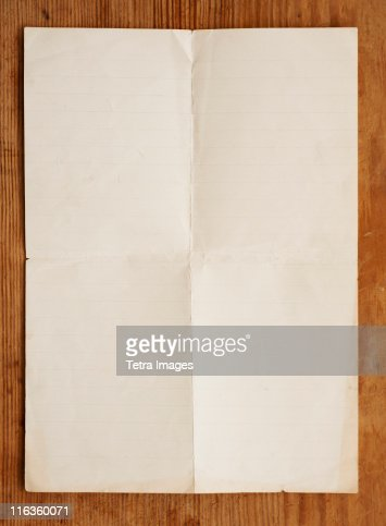 Close up of blank page