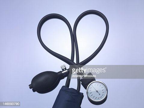 Close up of blood pressure gauge : Stock Photo