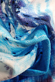 Close Up of Blue Dyes on Fabric
