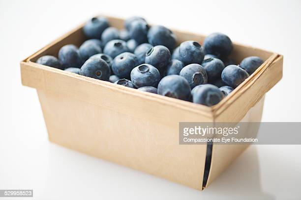 Close up of blueberries in punnet