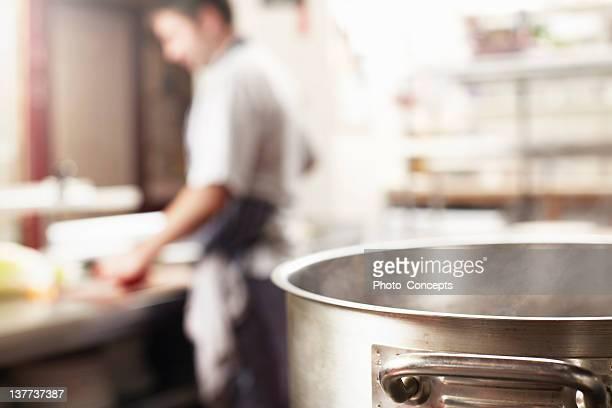 Nahaufnahme von einem Topf kochen in der Küche