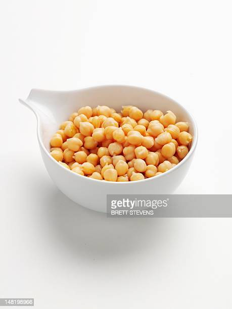 Close up of bowl of chickpeas