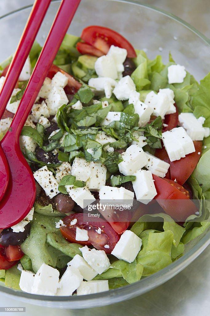 Close up of bowl of salad : Stock Photo
