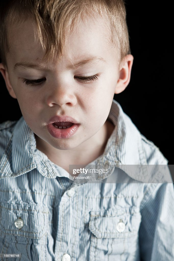 Close up of boy : Stock Photo