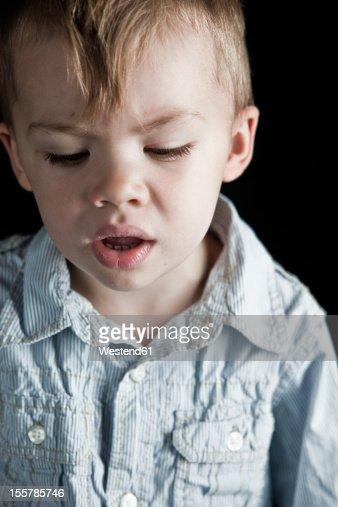 Close up of boy : Stock Photo