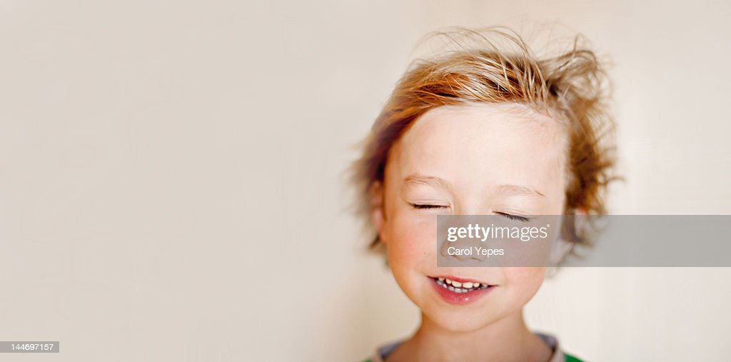 Close up of boy smiling : Stock Photo