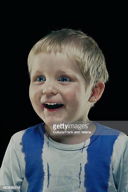 Close up of boy?s smiling face