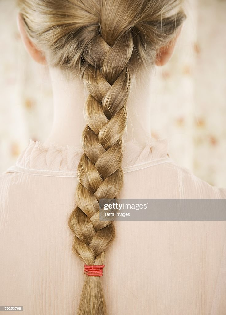 Close up of braid down a woman?s back