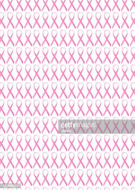 Close up of Breast Cancer Awareness Ribbons