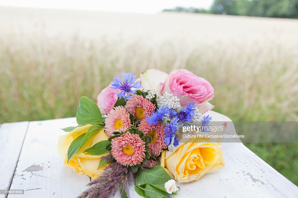 Close up of bridal bouquet : Stock Photo