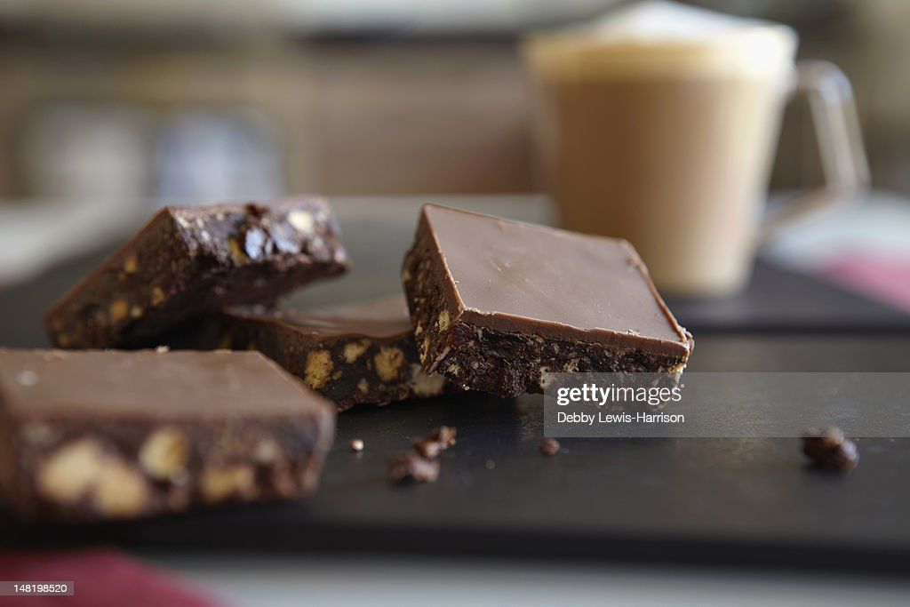 Close up of brownies on table : Stock Photo