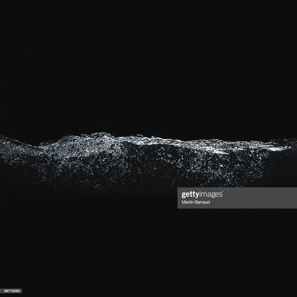 Close up of bubbles in water : Stock Photo