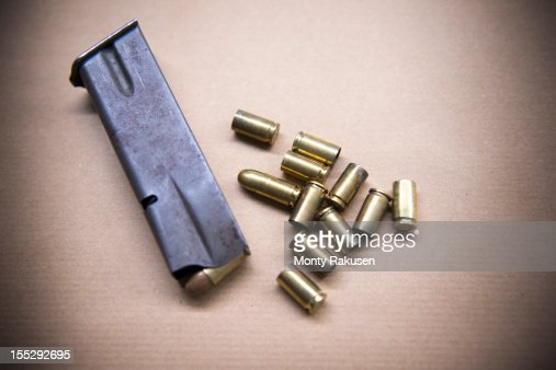 Close up of bullet casings