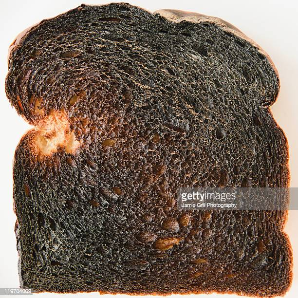 Close up of burnt toast