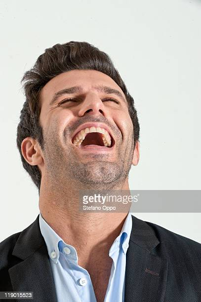 Close up of businessman laughing