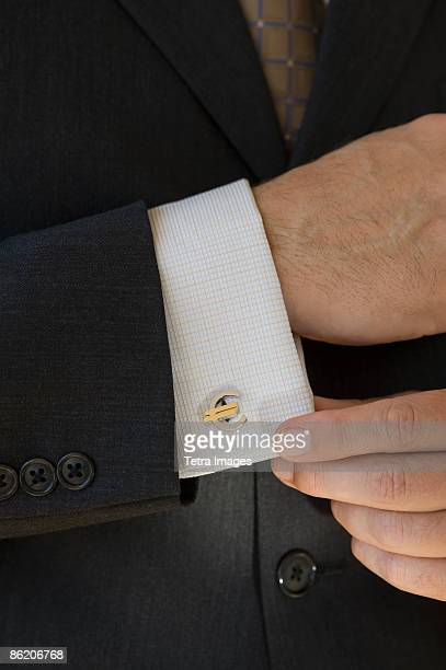 Close up of businessman with euro cuff link